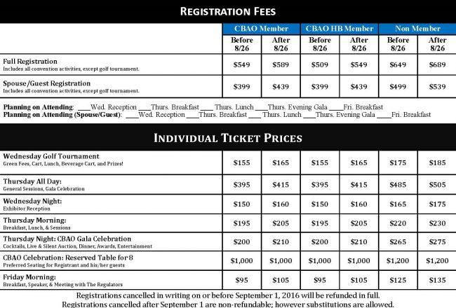 2016 CBAO Convention Registration Form